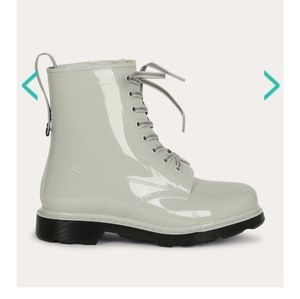 Shoes - Combat rubber rain boots